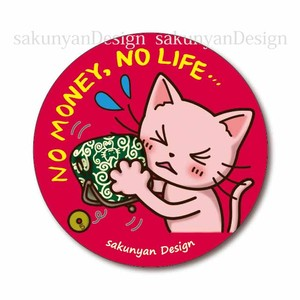マグネット【NO MONEY, NO LIFE…】ねこち&さくにゃん