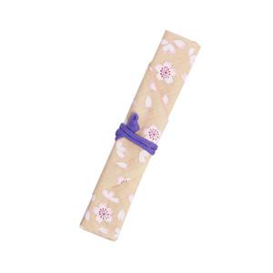 マイ箸袋 巻き型 桜 クリーム [007-00032-001]