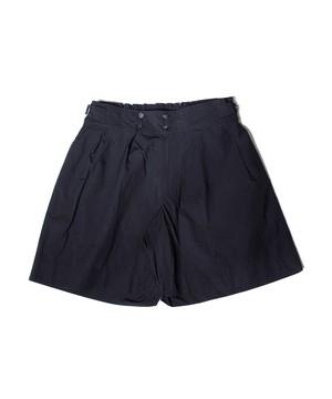 Wide Gluca Shorts -black <LSD-BJ1P4>