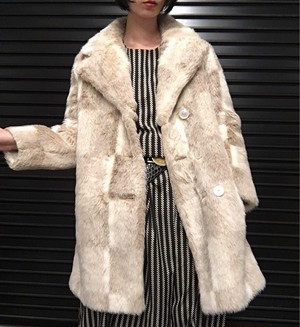 80's USA vintage fur coat