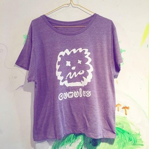 cumulus wide tee purple lady's M