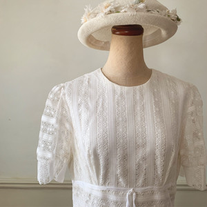 60s パフスリーブのVintage Wedding Dress