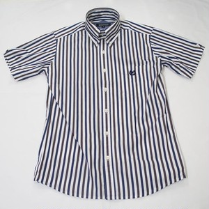 MALTI STRIPE BD SHORT SLEEVE  White / Brown / Navy