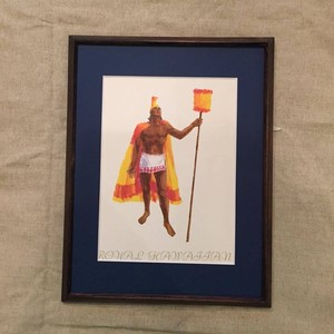 1970's United Airlines Royal Hawaiian First Class Menu, Framed
