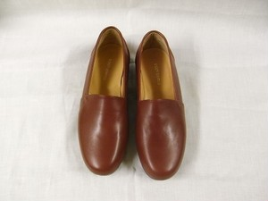 slip on kipleather shoes / brown