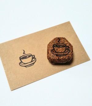 ハレクモのけしごむはんこ コーヒー