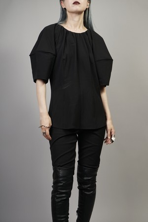 SWITCHING COCOON SLEEVE TOPS  (BLACK) 2107-75-36