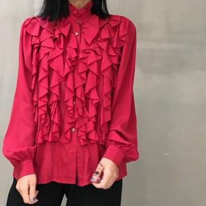 Yves Saint Laurent red silk blouse