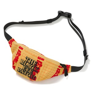 "BLACK EYE PATCH / ""AS ADVERTISED"" LABEL TEXTILE WAIST POUCH"