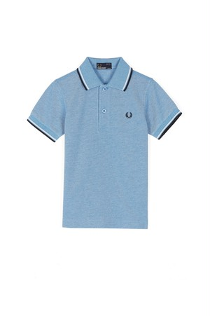 30% OFF ! 店舗限定 Kids Fred perry Twin Tipped Shirt (Colour: 661 Prince Blue Oxfdor / White / Navyカラー) キッズ フレッドペリー