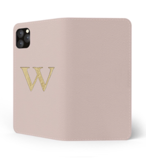 iPhone Premium Smooth Leather Case (Cotton Pink) : Book Cover
