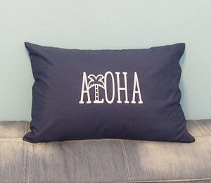 ALOHA PILLOW CASE [NAVY]