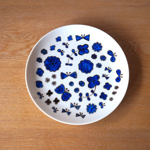 flower dish ( blue )