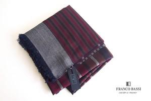 フランコバッシ|Franco Bassi|ウールストール|ネイビー×ボルドー×ブラウン×ホワイト