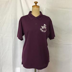 YABUSAME象形ロゴ 半袖ポロシャツ (パープル)