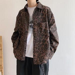 ドロップショルダーレオパードシャツ BL4456