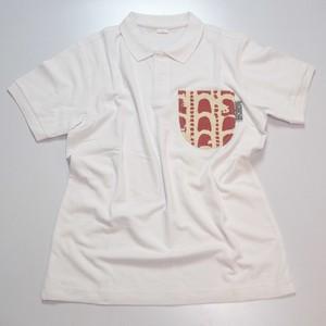 ポロピカルシャツ ホワイト×アカガワラ
