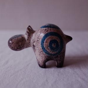 ハッピーヒポ ソープストーンアニマル (grey & blue)