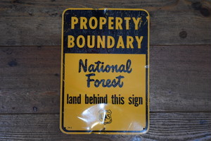 USED US FOREST SERVICE Steel Sign 50s G0311