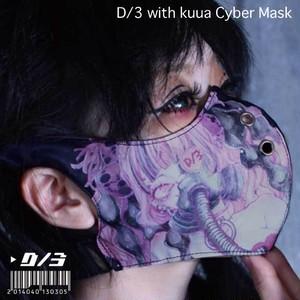 空亜×D/3 サイバーマスク タイプベータver2.0  kuua×D/3 Cyber Mask TYPEβ ver2.0 (空亜×D/3 サイバーマスク タイプベータver2.0)  BLACK(黒) d3