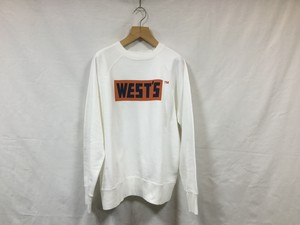 "WESTOVERALLS""CREW SWEAT WHITE/ORENGE/NAVY"""