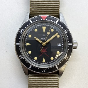 W.MT WATCH SEA DIVER Small Crown Red Oman Ltd Ver.  (AGED BEZEL,HANDS,CASE) WMT205-01