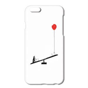 8/8Plus対応 [iPhoneケース] ペンギンと風船とシーソー