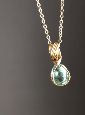 【ミントグリーンの希望】カイヤナイト宝石ペンダント