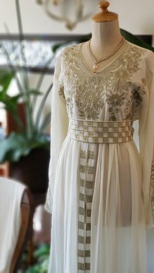エジプト製ドレス 【ホワイト】