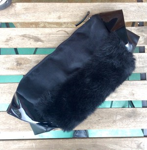 Fur clutch bag