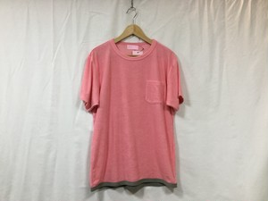 """EACHTIME""""PILE T-SHIRT PINK×GRAY"""""""