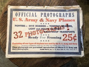 vintage 32 OFFICIAL PHOTOGRAPHS US ARMY & NAVY PLANES Plane Facts w/envelope ビンテージ us.army us.navy 戦闘機 飛行機 アメリカ軍