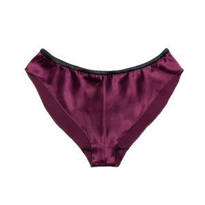 """YASMIN"" Loose Mini Panty (BURGUNDY/BLACK)"