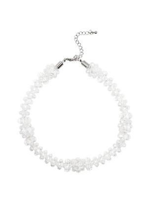 Glass Beads Flower Choker | Clear