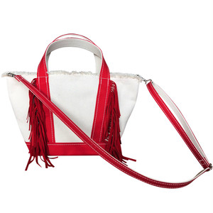 Side Fringe Tote Bag [small] /RED