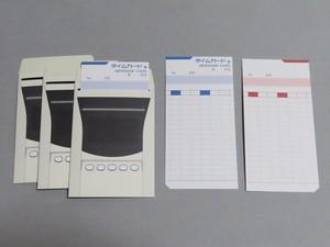 タイムカード風メッセージカード 兼 ぽち袋