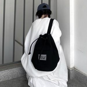 【バッグ】レトロ無地肩掛けファスナー帆布バッグ43025228