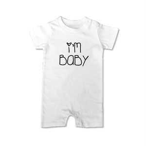 I'M BABY ロンパース Rouh&Laugh