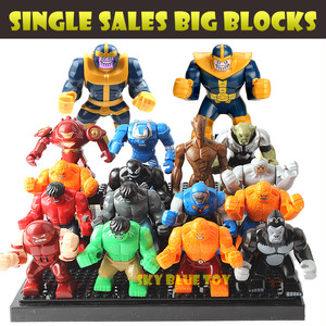 Single Sale Decool Kids Large Minifigures Marvel Superhero  Avengers Thanos Hulk Buster Venom Ironman Building Blocks Toys  Legoes