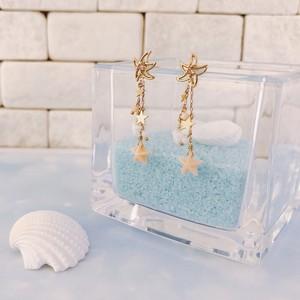 【kiyolakrei】キヨラクレイ キヨラハワイアン ピアス 直結  (ジャケット式)  白珊瑚 ピンク珊瑚 K10 h3a03pm (CORALIA)