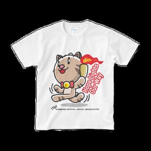 <白Tシャツ 正面>聖火みーちゃん