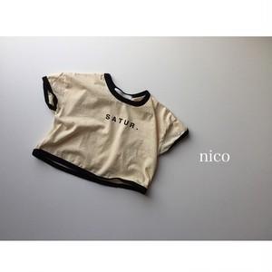babyシンプルロゴリンガーTシャツ