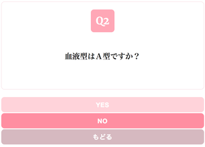 Yes/No Chart LIGHT PINK スタイル
