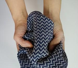 男前♪手織りハンカチ 汗しっかり吸収してくれるコットンハンカチ ブルー
