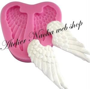 天使の翼♪シリコンモールドa