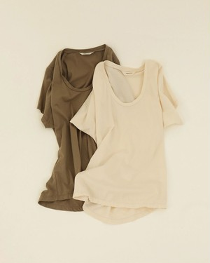 TODAYFUL トゥデイフル Uneck Cotton T-shirts 12010624