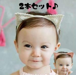 【即納】【ヘアアクセサリー】猫耳ヘアバンド  2本セット  S510
