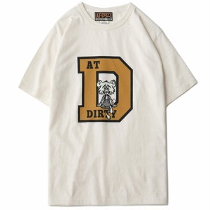 AT-DIRTY(アットダーティー)/COLLEGE D S/S TEE (NATURAL)
