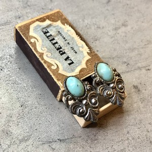 Vintage Turquoise Metal Earrings / ヴィンテージターコイズメタルイヤリング