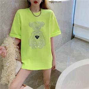 【トップス】韓国系半袖ラウンドネックプルオーバーTシャツ46876615